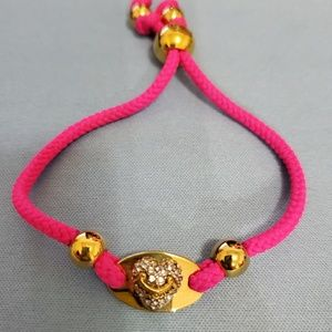 Juicy couture ID friendship bracelet pink